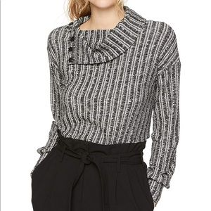 THREE DOTS long sleeve variegated sweater   M